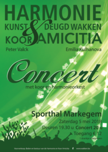 Lenteconcert ism Amicitia koor @ Sporthal markegem | Dentergem | Vlaanderen | België